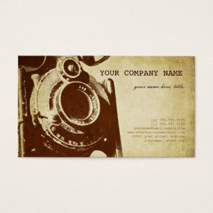 Old fashioned business cards business card printing zazzle ca retro vintage photography business card reheart Gallery