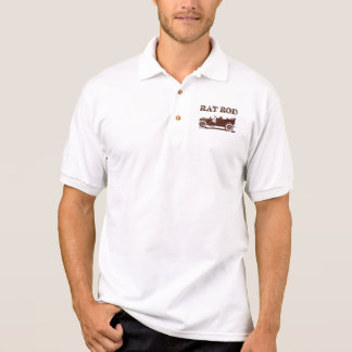 Retro Vintage Rat Rod Old School Cool Rusty Car Polo Shirt