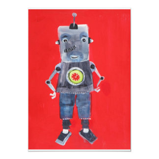 Retro Vintage ROBOT Pop ART Card