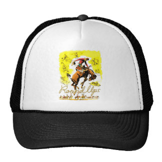 Retro Vintage Rodeo Cowboy Roundup Trucker Hat