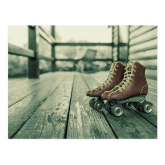 Retro Vintage Roller Skates Postcard