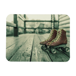Retro Vintage Roller Skates Rectangular Photo Magnet