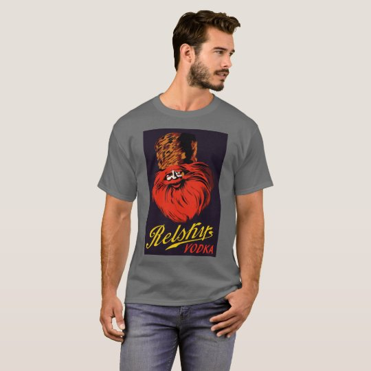 Retro vintage Russian style vodka ad T-Shirt