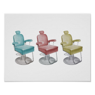 Retro Vintage Salon Decor Stylist Chair Print
