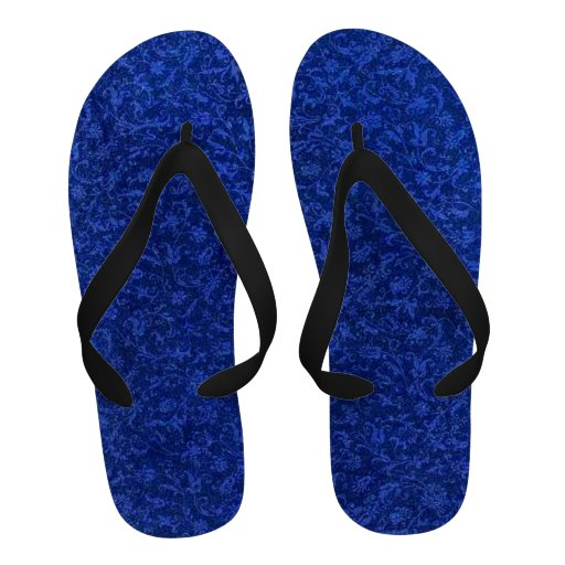 Retro Vintage Sapphire Blue Flip Flops