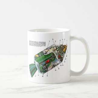 Retro Vintage Sci Fi Apollo Space Module Coffee Mug