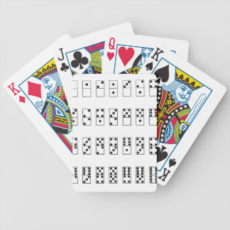retro vintage set of dominoes bicycle playing cards