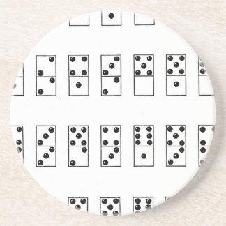 retro vintage set of dominoes coasters