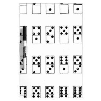 retro vintage set of dominoes Dry-Erase whiteboards