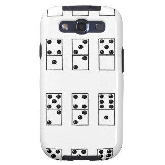 retro vintage set of dominoes galaxy s3 cover