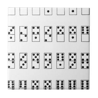 retro vintage set of dominoes tiles