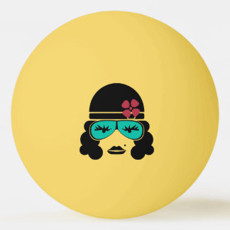 Retro Vintage Silhouette Table Tennis Ball