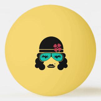 Retro Vintage Silhouette Table Tennis Ball