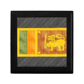 Retro Vintage Sri Lanka Flag Gift Box