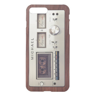 Retro Vintage Stereo Recorder Wooden Cabinet iPhone 7 Plus Case