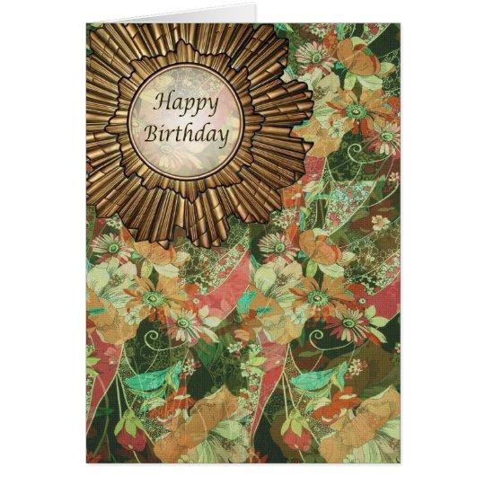 Retro Vintage Style Art Deco Birthday Day Card
