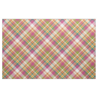 Retro Vintage Summer Plaid Tartan Squares Pattern Fabric