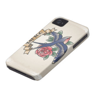 Retro vintage tattoo iPhone 4 Case-Mate case