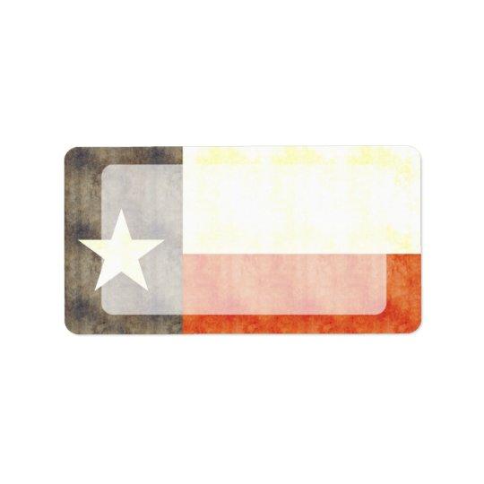 Retro Vintage Texas Flag Label