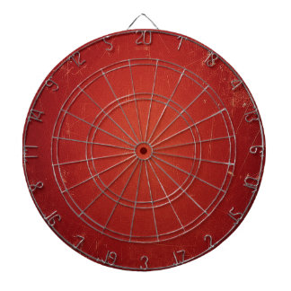 Retro Vintage Tomato Red Pattern. Fashion Color Dartboard