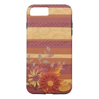 Retro Vintage Tone Stripe Floral Pattern iPhone 7 Plus Case