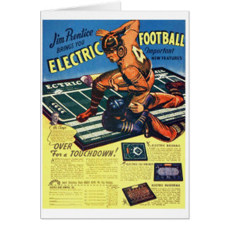 Retro Vintage Toy 'Electric Football Game' Greeting Card