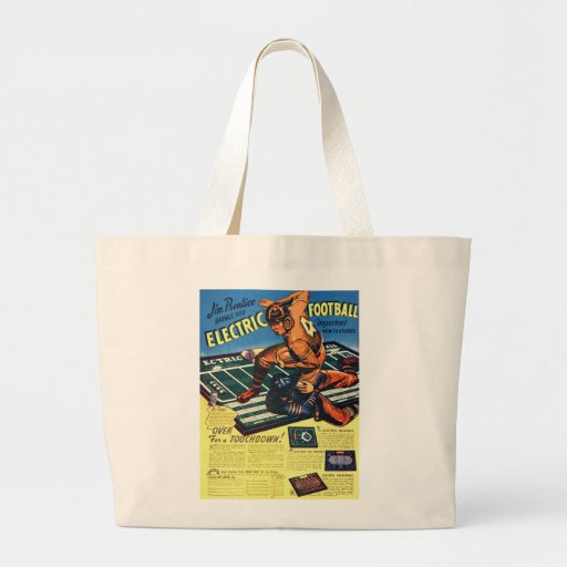Retro Vintage Toy 'Electric Football Game' Jumbo Tote Bag