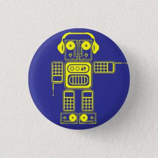 Retro Vintage Toy Robot (Yellow / Blue) Flair 1 Inch Round Button