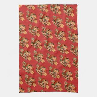 Retro/Vintage Valentine's Cherubs Kitchen Towel