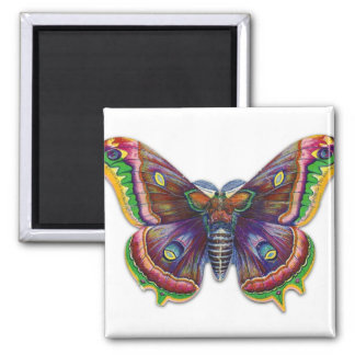 Retro Vintage Victorian Butterly Illustration Magnet