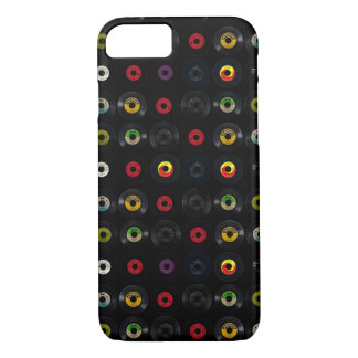 Retro Vintage Vinyl 45 Records iPhone 8/7 Case