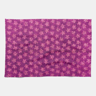 Retro Vintage Violets Magenta Pink  Kitchen Towels