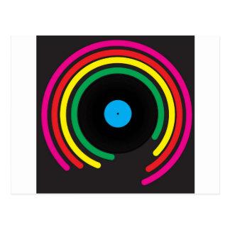 Retro Vinyl Postcard