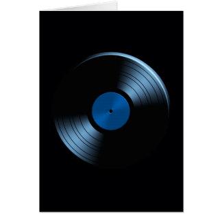 Retro Vinyl Record Album in Blue Card