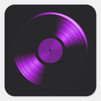 Retro Vinyl Record Album in Purple Stickers