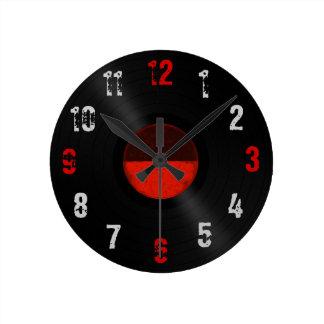 Retro Vinyl Record Album Round Clock