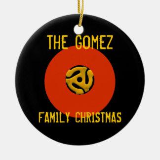 Retro Vinyl Record Christmas Ornament