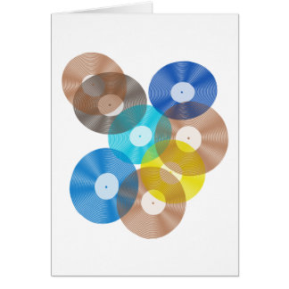 Retro Vinyl Record Collection Card