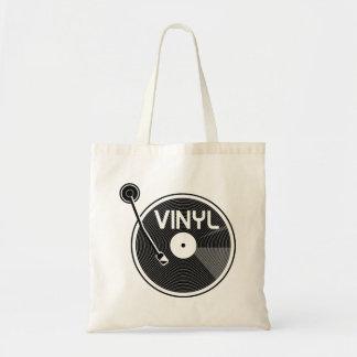 Retro Vinyl Record Turntable Tote Bag