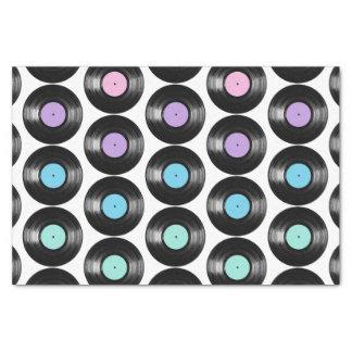 Retro Vinyl Records Colorful Pattern Design Tissue Paper