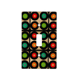 Retro Vinyl Records Custom Light Switch Cover