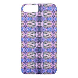 Retro Violet Grey Design. Geometric Pattern iPhone 7 Plus Case