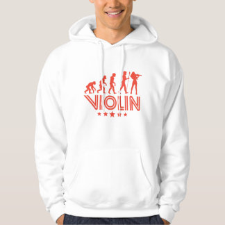 Retro Violin Evolution Hoodie