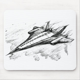 Retro vision-17-supersonic jet plane mouse pad