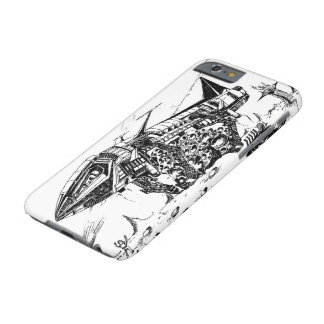 Retro vision-18, Space mining Barely There iPhone 6 Case