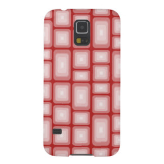 Retro Visual Effect Squares on Red V1 Cases For Galaxy S5