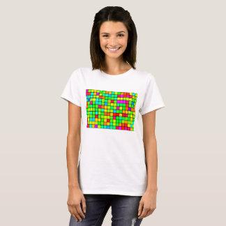 Retro Vivid Squares Women's Basic T-Shirt