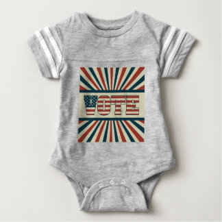Retro vote, all gear baby bodysuit