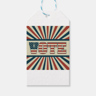 Retro vote, all gear gift tags