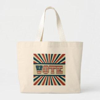 Retro vote, all gear large tote bag